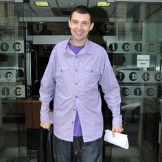 Tim Westwood in the Yalding House (Formerly the BBC Radio 1 & Studios) Tim Westwood, Denim Button Up, Button Up Shirts, Bbc Radio 1, Studios, Shirt Dress, Mens Tops, House, Dresses