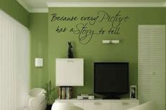 Vinyl Saying - Vinyl Lettering - Wall Writing Because Every Picture Has A Story To Tell  by thatsalowprice10, $9.99