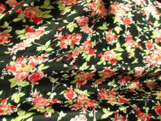 Satin Charmeuse Roses Print on Black Table Runner. X Polyester Dining Table Runners, Table Runner And Placemats, Table Runner Pattern, Quilted Table Runners, Dining Table In Kitchen, Christmas Runner, Black Table, Table Linens, Home Kitchens