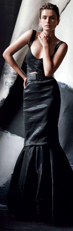 Donna Karan Organza Crisscross Bra Top & Stretch-Organza Trumpet Skirt