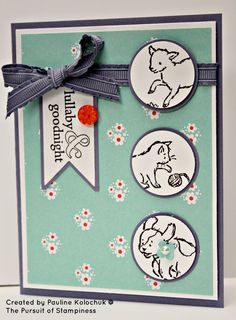 The Pursuit of Stampin'ess: Storybook Friends Baby Card by Stampin Up