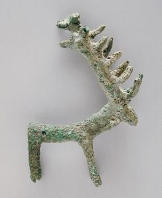 Stag Iran, circa 750 B.C. Sculpture Bronze Height: 3 3/4 in. (9.5 cm) Anonymous gift (M.91.364.36) Art of the Ancient Near East