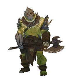 Male Orc Fighter Barbarian