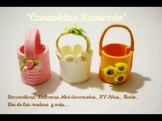 Como hacer Canastitas Florales Recuerdos Faciles - Cold porcelain Easy Tutorials - YouTube