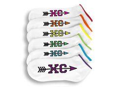 Cross Country Socks 6 Pairs of Custom Printed XC by ApparelHut