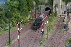 Modelleisenbahn  Einfahrt Neustadt am Wald