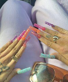Nail Design Stiletto, Nail Design Glitter, Cute Acrylic Nail Designs, Almond Acrylic Nails, Summer Acrylic Nails, Nail Swag, Stylish Nails, Trendy Nails, Acylic Nails