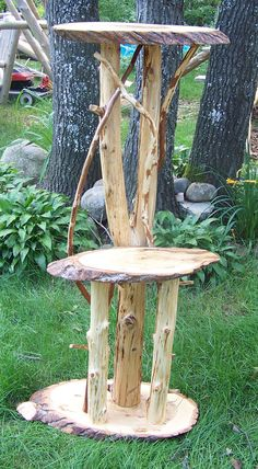 Cedar Log Plant Stands, Outdoor Plant Stand, Log Home Plant Stands ...
