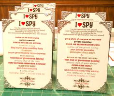 I SPY for the tables : wedding i spy frames fall reception brown red inspiration diy Camera Frame