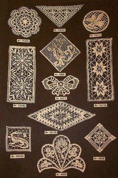 dentelle 15 motifs de dentelle Retournac haute loire