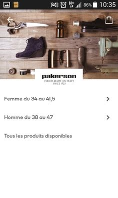 PAKERSON mode chaussure femme Italie Luxe