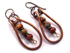 Rustic+Earthy+Natural+Stones+Dangle+Earrings+by+SheFliesAgain,+$31.00
