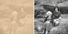 My Photo restoration work. www.adluniad.co.uk twitter.com/Adluniad Storage Organization, Organizing, Photo Repair, Photo Restoration, Genealogy, Old Photos, Photo Editing, Photoshop, Couple Photos