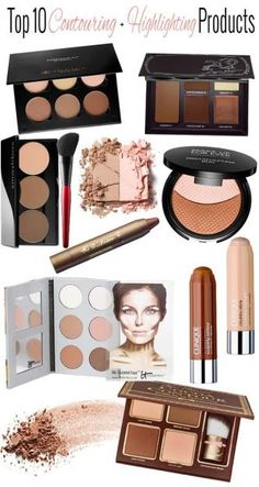 Top 10 Contouring + Highlighting Makeup Palettes and Products with Tutorials