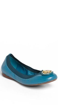 Tory Burch Electric Blue Flat