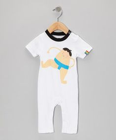Loving this White Sumo Playsuit - Infant on #zulily! #zulilyfinds Gaaaah so cute kai or satoshi
