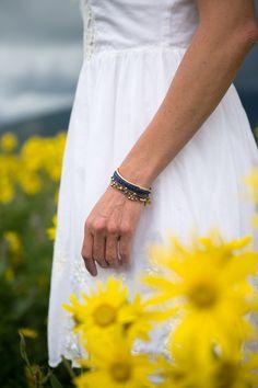 White dress & pretty bracelets