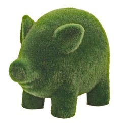 'Grass' Flocked Piggy Bank: Made of terracotta and packaged in a sturdy gift box. $18 #Piggy_Bank