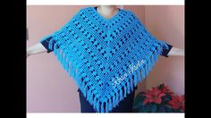 PONCHO CALADO A CROCHET - YouTube