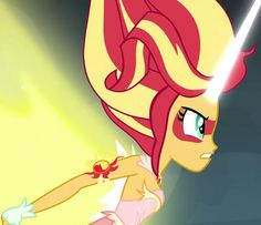 MLP. Sunset Shimmer aka Daydream Shimmer striking back at Midnight Sparkle aka Twilight. The Friendship Games. Uploaded by SUNSET SHIMMER.