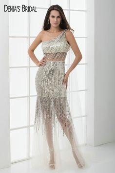 Real Image Sexy One Shoulder Prom Dresses Sequins Champagne Floor Length  Prom Gowns  Affiliate 107e7e9fe5f4