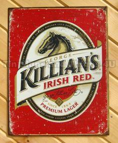 Killian's Irish Red TIN SIGN coors beer vtg bar pub metal wall decor poster 1390
