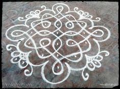 Rangoli Rev's chikku kolam 75. 7 to 1 straight dots. | m.iKolam.com