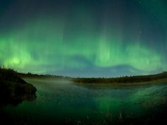 The northern lights in Minnesota