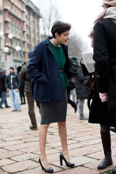 On the Street….. At Roberto Cavalli Part II, Milan. From The Sartorialist,
