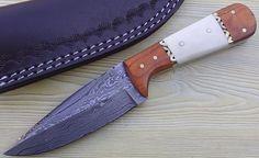 Custom Made Damascus Hunting Knife | customknives0065 - Craft Supplies on ArtFire