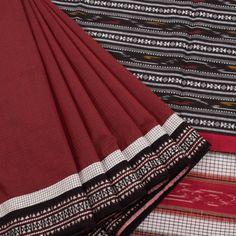 Tvaksati Handcrafted Coimbatore Cotton Concept Saree with Ikat pallu & Dabro Weave Border 10006879 - profile - AVISHYA.COM