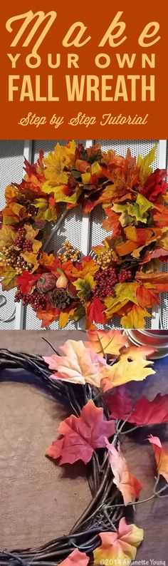 Make your own fall wreath with easy-to-find craft supplies and this great step by step tutorial
