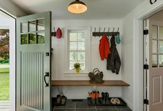 Mudroom with window