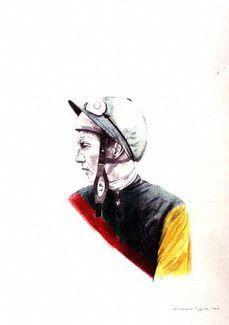 by Bryan Organ pencil and crayon 1974 © National Portrait Gallery, London National Portrait Gallery, Horse Racing, Little Girls, Hero, Horses, Artist, Fictional Characters, Inspiration, Biblical Inspiration