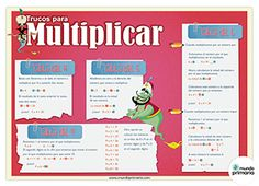 Trucos para aprender las tablas de multiplicar. www.mundoprimaria.com #infografia #primaria