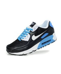 premium selection b0add 6e2da Nike Air Max 90 Black White Photo Blue Mens Sale UK