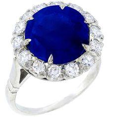 Antique Style 8.02ct Round Cut Sapphire 1.13ct Round Cut Diamond Platinum Ring - See more at: http://www.newyorkestatejewelry.com/rings/edwardian-style-8.02ct-ceylon-sapphire-1.13ct-diamond-ring-/24456/1/item#sthash.zZ2lkibf.dpuf