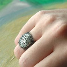 Lovely Metal Crochet ring from Yoola via Etsy