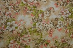 Vintage Cotton Fabric Manes Fabric Cotton Floral by #TheFabricScore www.thefabricscore.com  #fabric #sewing #crafts #diy