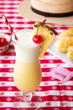 Our sweet, reduced-calorie spin on the classic Piña Colada combines the delicious flavors of pineapple and coconut to make a classic frozen cocktail.  Add in a splash of rum to turn this into a frozen cocktail that will make you feel like you're in paradise this summer.
