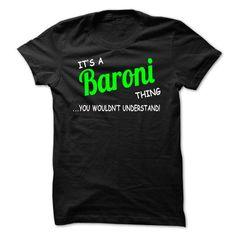 awesome BARONI Hoodie Shirts, I Love BARONI Tee Shirts