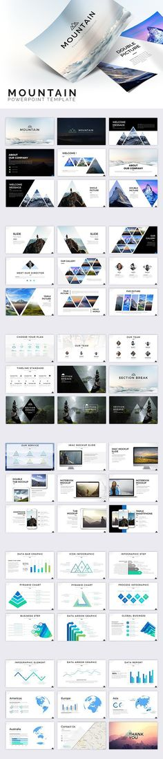 Mountain Powerpoint Template. Presentation Templates