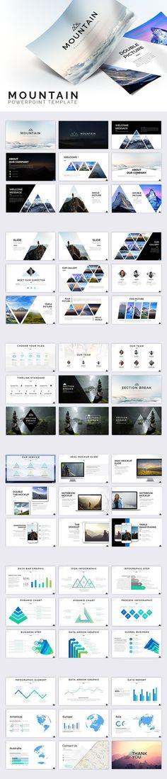 Mountain Powerpoint Template. Presentation Templates