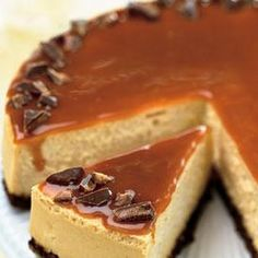 Toffee Crunch Caramel Cheesecake Recipe | Key Ingredient