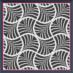 Geometric 10 - Fans - Counted Cross Stitch Pattern (X-Stitch PDF) Thanks for visiting my store! This cross-stitch pattern was personally and lovingly designed by me! This pattern calls for just 5 colors, but you could substitute any colors you like. If it were me, I would probably go with rainbow colors! Maybe even variegated or metallic floss! Also note that the pattern can be repeated horizontally and vertically to fill whatever finished size you would like. The measurements below…
