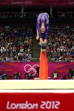 USA Gymnastics' women's Olympic team's Jordyn Wieber tumbles on the balance beam during London qualifications.