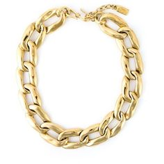 Yves Saint Laurent Vintage Gourmette Chain Necklace ($535) ❤ liked on Polyvore featuring jewelry, necklaces, metallic, gold plated jewelry, gold plated necklace, gold plated jewellery, vintage chain necklace and vintage jewellery