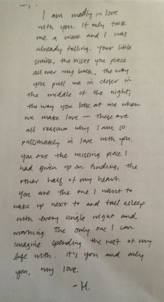 The most beautiful love letter.