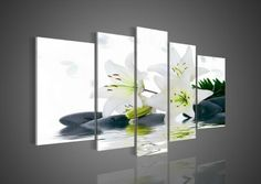5266 handpainted 5 pieces modern oil painting on canvas wall art pictures for home decor as unique gift quietly elegant flowers $56.00 - 136.00