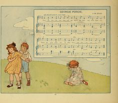 Mabel Betsy Hill: The Most Popular Mother Goose Songs Mother Goose Songs, High School Books, Library Games, Baby Records, Magic Island, Painted Books, Nursery Rhymes, Vintage Cards, Alice In Wonderland